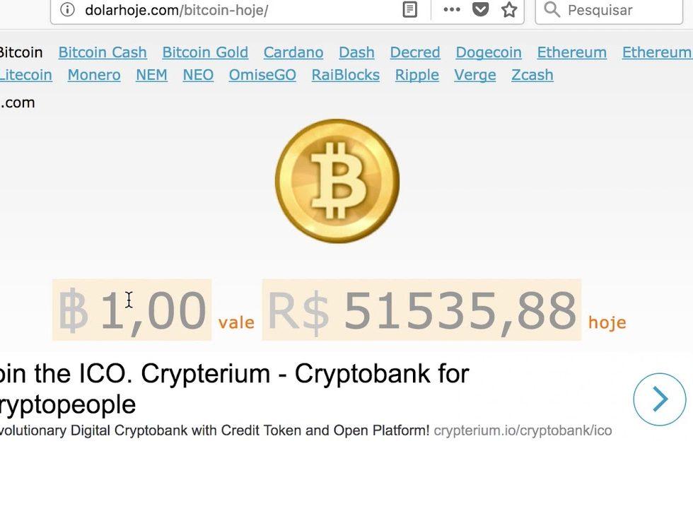 Bitcoin Hoje Como Ver A Cotacao E Converter Valores Ferramentas Para Webmasters Seo Otimizacao De Sites